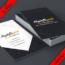 دانلود موکاپ برگه تبلیغ کسب و کار – Business card stack mockup
