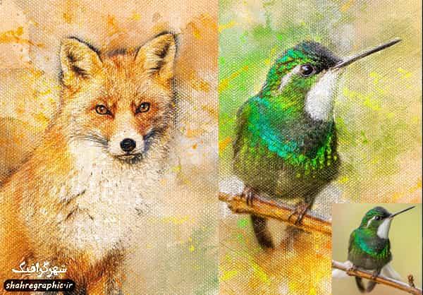دانلود اکشن فتوشاپ نقاشی روی بوم